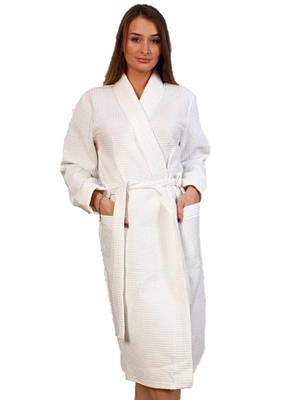 Вафельний халат Luxyart Кімоно S Білий (LS-0382)