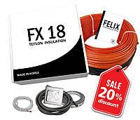 Корейська тепла підлога FX18 4м2(33,33 мп) 600 ват гріючий кабель в тефлоновій ізоляції під плитку (в стяжку), фото 1