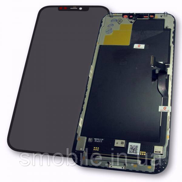 Apple Дисплей iPhone 12 Pro Max з сенсором і рамкою, чорний (оригінал)