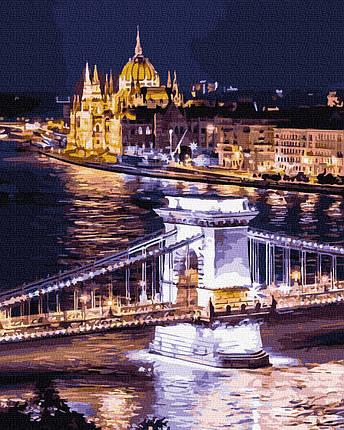 Картина по Номерам Ночной Будапешт 40х50см RainbowArt, фото 2
