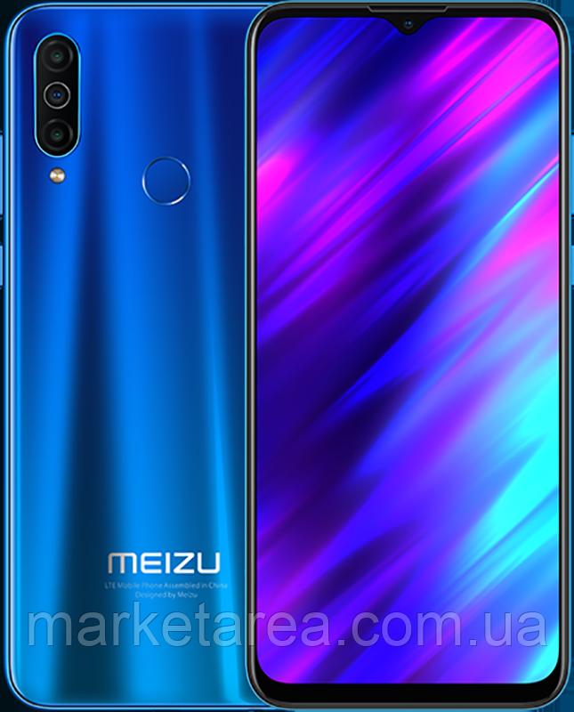 Смартфон мейзу со сканером отпечатка пальца на 2 симки Meizu M10 2/32Gb Sea Blue Global (Гарантия 12 мес)
