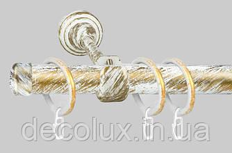 Карниз для штор металевий, однорядний 19 мм (Принц)
