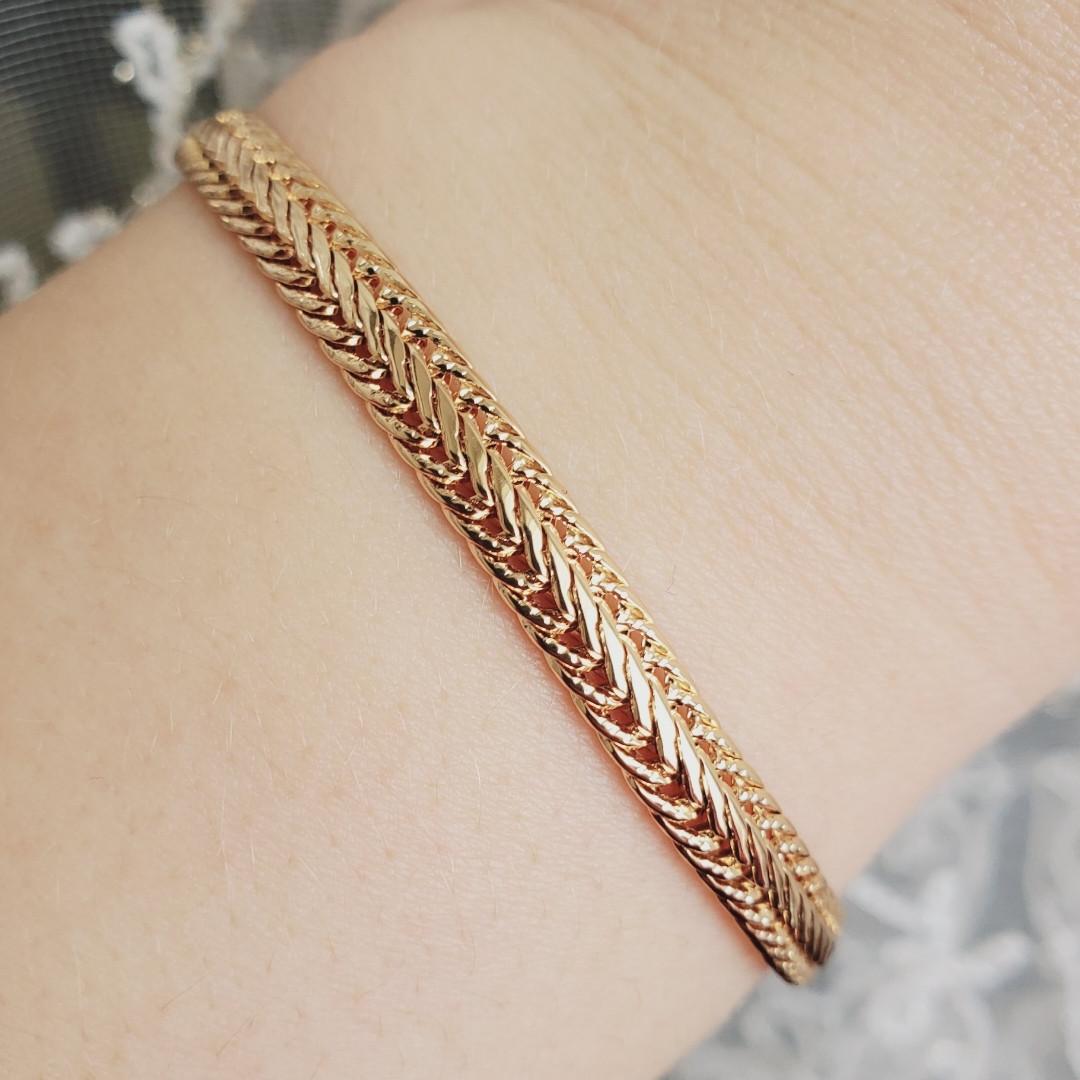 Браслет Xuping 6мм 19см медичне золото позолота 18К 1341