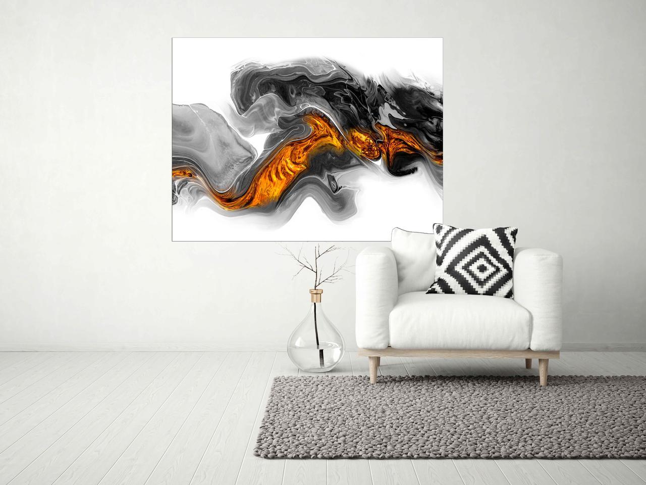 Модульная картина на холсте, красивая огненная картина в зал, спальню, прихожую, гостиную