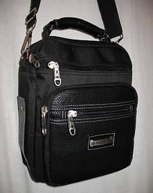 Сумка мужская Wallaby через плечо вместительная качественная барсетка сумки 8w854 черная