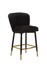 Полубарный стілець B-126 чорний вельвет