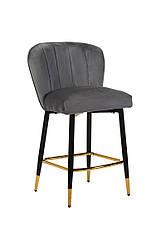 Полубарный стілець B-126 сірий вельвет