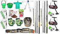 Набор для рыбалки,Kaida,Фидер, подарок мужу рыбаку. Набор для ловли карпа, карася, плотвы!