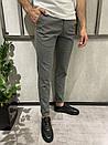 Мужские брюки однотонные серые, фото 2