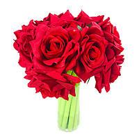 Набор гелевых ручек цветок 16 шт Красная роза