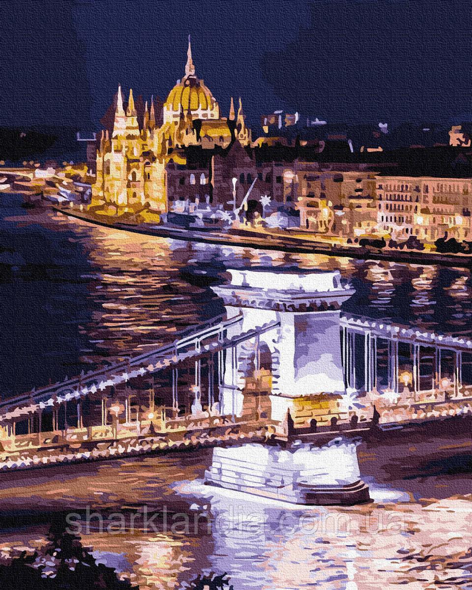 Картина по номерам Ночной Будапешт 40х50см RainbowArt