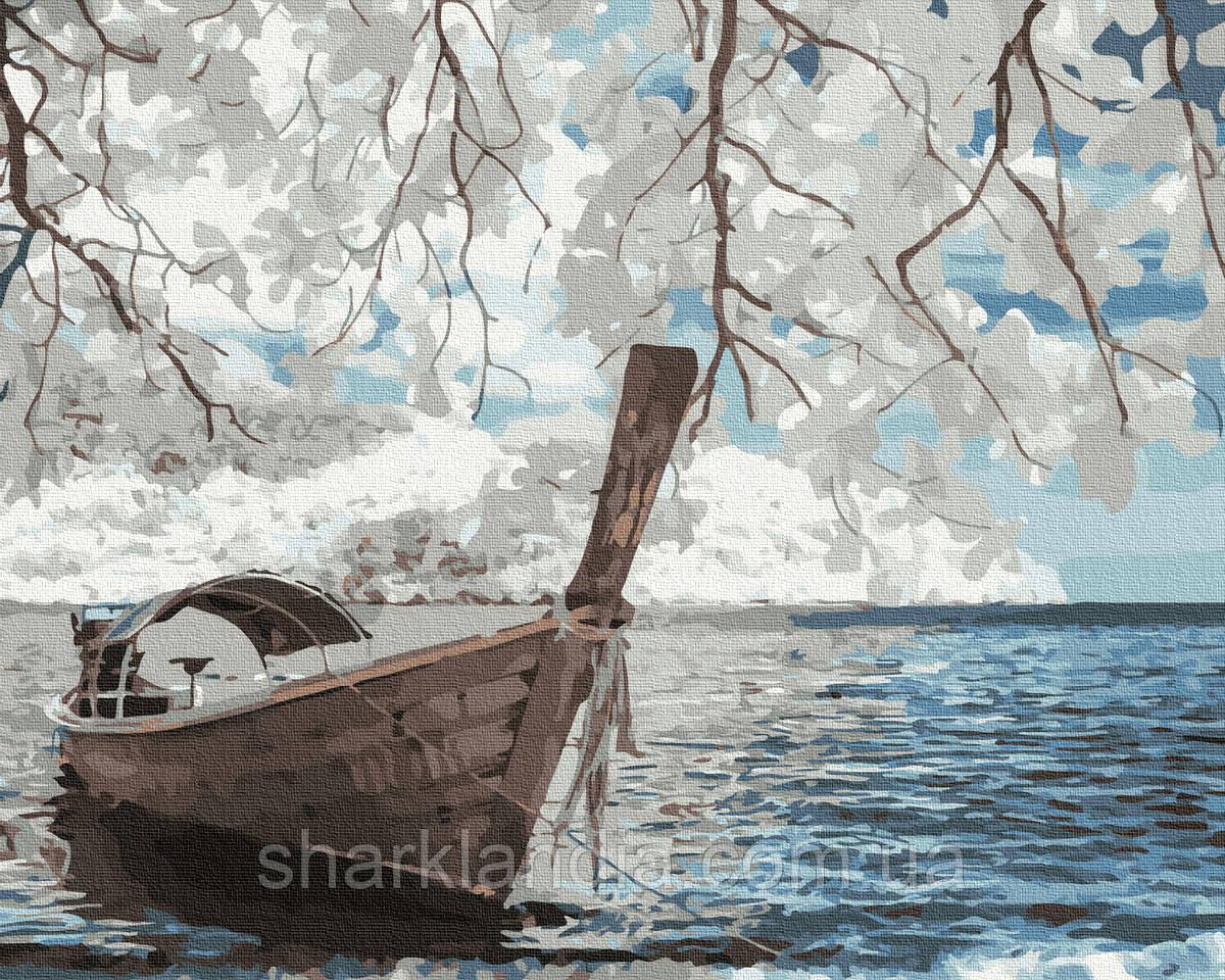 Картина за номерами Човен на березі 40х50см RainbowArt