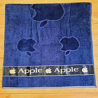 Полотенце махровое с велюром Aisha, размер 70*135, цвет темно-синий
