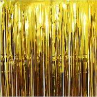 Фольгированная штора для фотозоны золото, 1*2 м