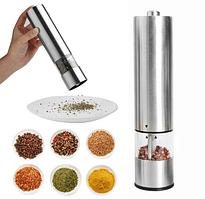 Електричний млин для солі та перцю срібний