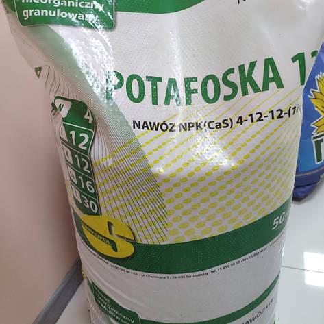 Потафоска (Potafoska12) NPK(Ca,S) 4-12-12-(16-30), 1 мішок 50 кг, фото 2