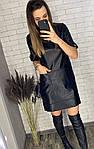 Кожаное платье с карманами, фото 3