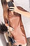 Кожаное платье с карманами, фото 8