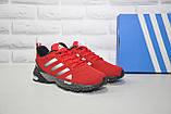 Чоловічі червоні кросівки сітка в стилі Adidas Marathon TR 30, фото 2