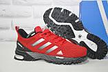 Чоловічі червоні кросівки сітка в стилі Adidas Marathon TR 30, фото 5