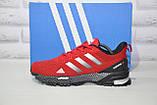 Чоловічі червоні кросівки сітка в стилі Adidas Marathon TR 30, фото 4