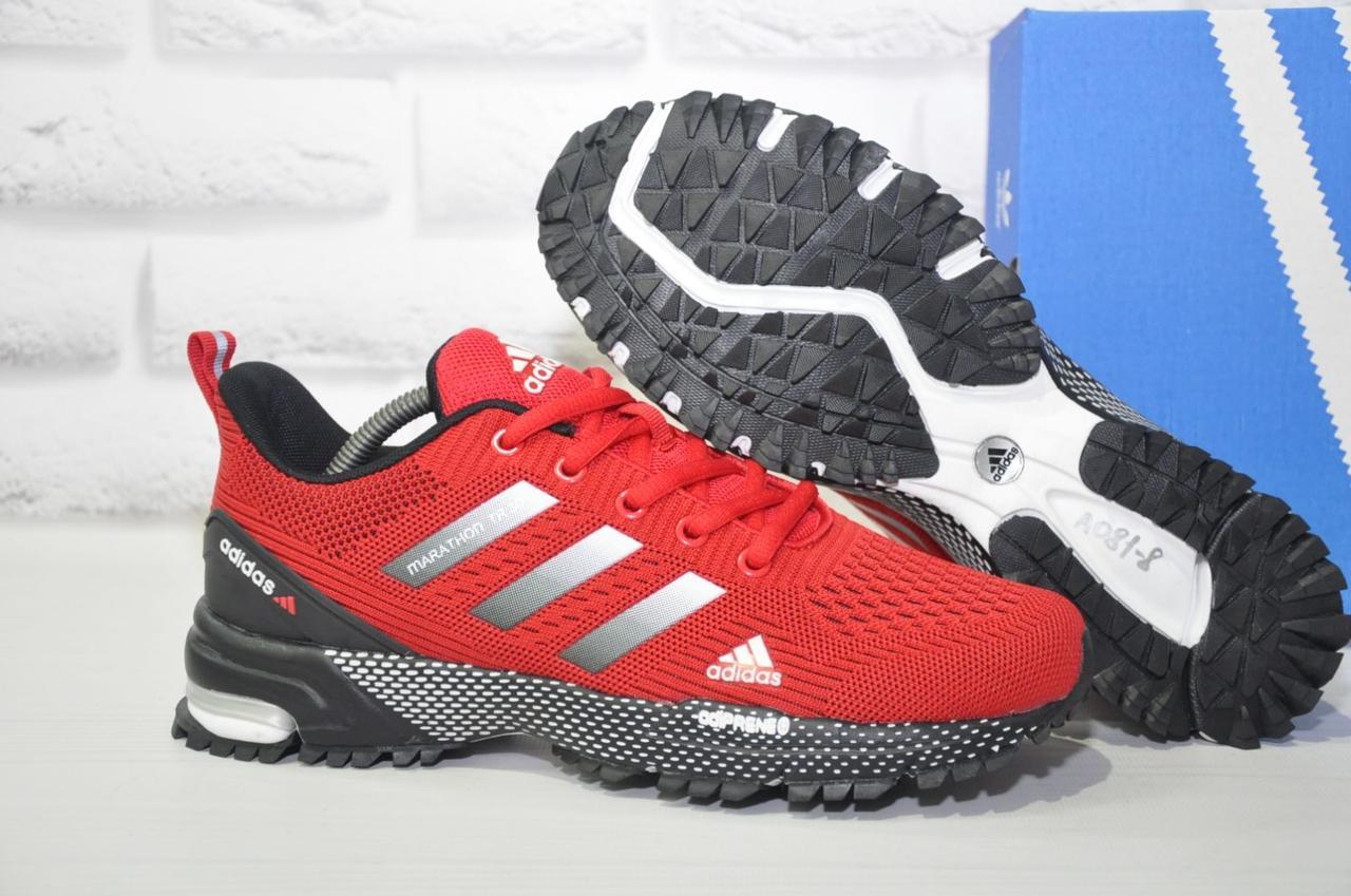 Чоловічі червоні кросівки сітка в стилі Adidas Marathon TR 30