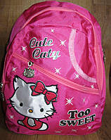 Детский рюкзак  Хеллоу Китти. Рюкзачок для девочки. Детский рюкзак  в садик. Рюкзак Китти