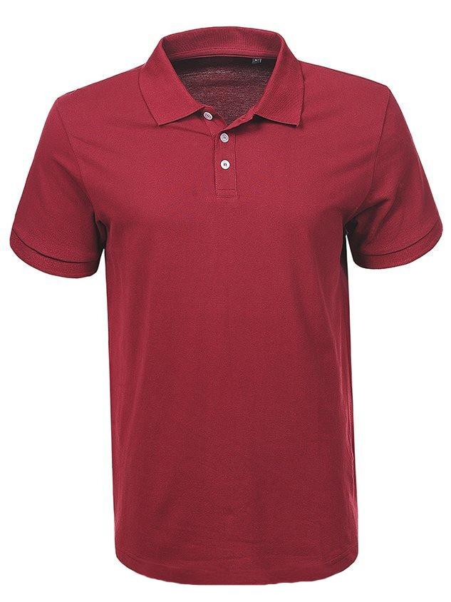 Мужская бордовая футболка поло в большом размере