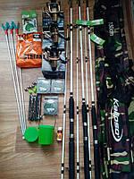 Рыболовный набор Crocodile,удочку с катушкой, Оснащённые удочки и спиннинги, Готовые наборы для рыбалки!