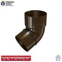 Колено трубы d.80 67 градусов Devorex Classic 120 Коричневый
