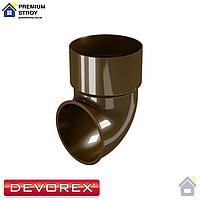 Колено сливное Devorex Classic 120 Коричневый