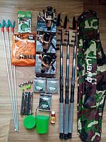 Комплекты рыболовные, Готовые наборы для рыбалки, Набор рыболовных снастей, спиннинг в сборе универсальный!