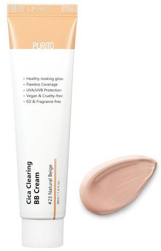 ВВ крем с центеллой для чувствительной кожи Purito Cica Clearing BB Cream №23 Natural beige 30 мл