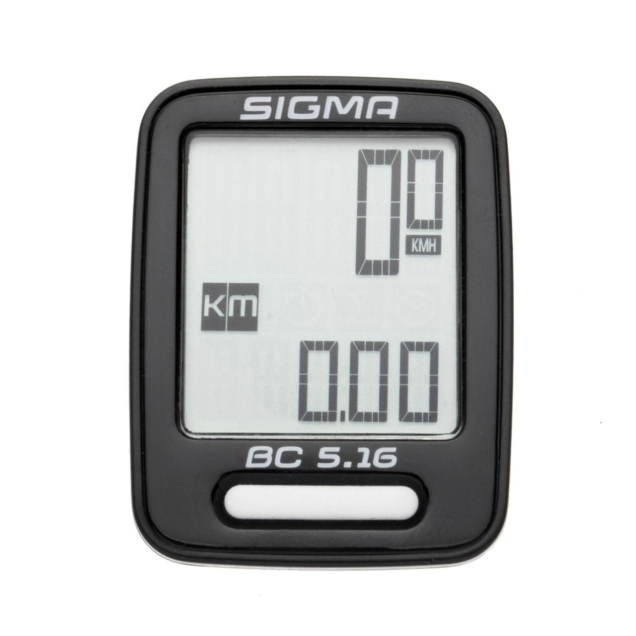Велокомп'ютер Sigma Sport BC 5.16 Чорний