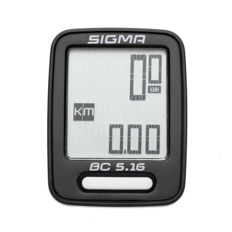 Велокомп'ютер Sigma Sport BC 5.16 Чорний, фото 2