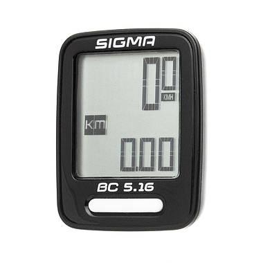 Велокомп'ютер Sigma Sport BC 5.16 Чорний, фото 3