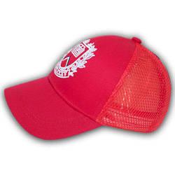 Летняя бейсболка с сеткой, 52 р. красный