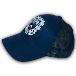 Летняя бейсболка с сеткой, 52 р. синий