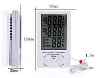 Термометр, гігрометр TA298 з годинником і виносним датчиком