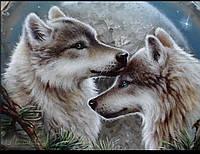 """Набір алмазної вишивки « Пара Вовків"""", фото 1"""