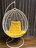 Кресло- кокон подвесное ротанг с матрасиком Blue, фото 2