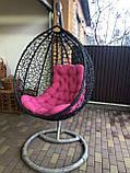 Кресло- кокон подвесное ротанг с матрасиком Blue, фото 4