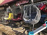 Кресло- кокон подвесное ротанг с матрасиком Blue, фото 9