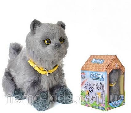 Кот сенсорный 19 см, машет хвостом, двигает головой