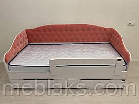 Кровать Л-9 односпальная детская с мягкой спинкой, фото 3