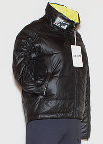 Курточка весна-осінь жіноча молодіжна чорна (M-XXL)