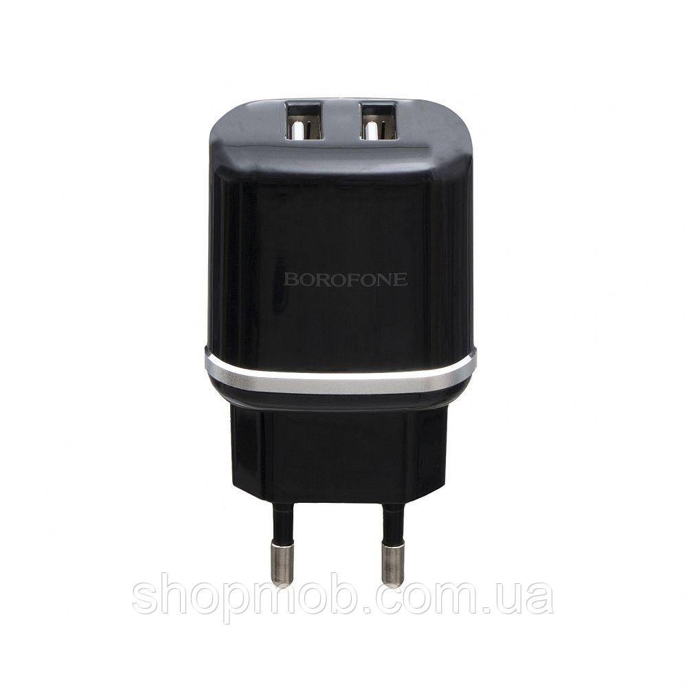 Сетевое Зарядное Устройство Borofone BA25A 2USB 2.4A Цвет Чёрный