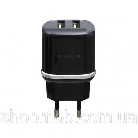 Сетевое Зарядное Устройство Borofone BA25A 2USB 2.4A Цвет Чёрный, фото 2