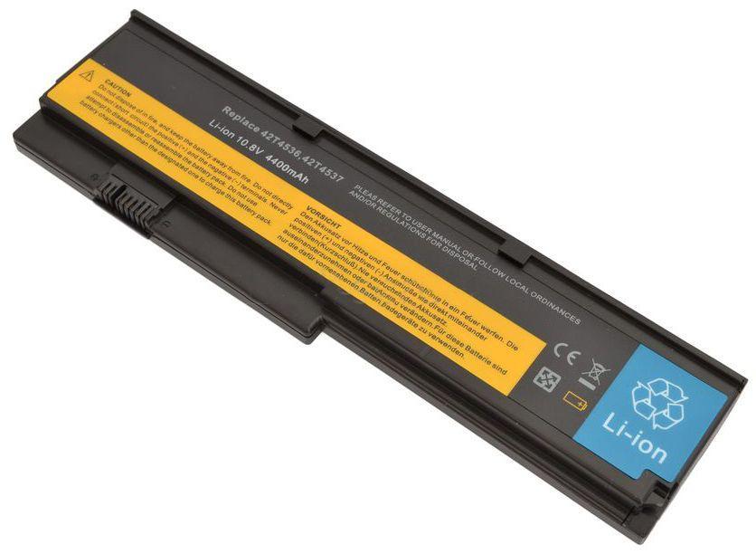 Аккумулятор для ноутбука Lenovo 42T4534 ThinkPad X200 / 10.8V 5200mAh / Black