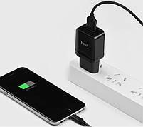 УЗУ Hoco C22A Lightning (СЗУ USB 2.4A/Cable Lightning) black, фото 2